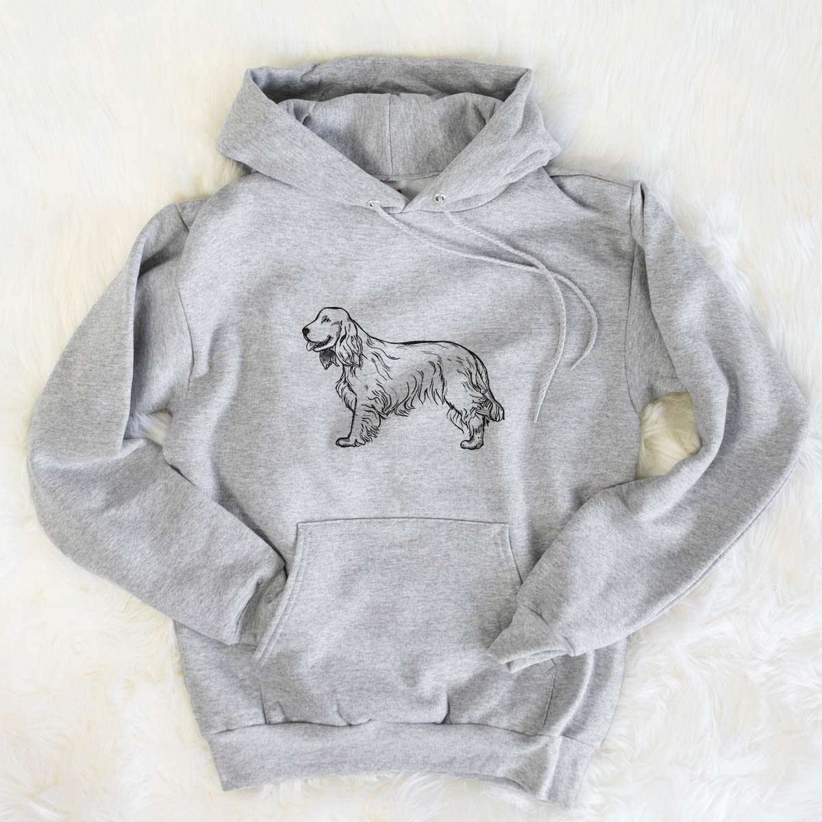 Halftone Cocker Spaniel  - Mens Hooded Sweatshirt