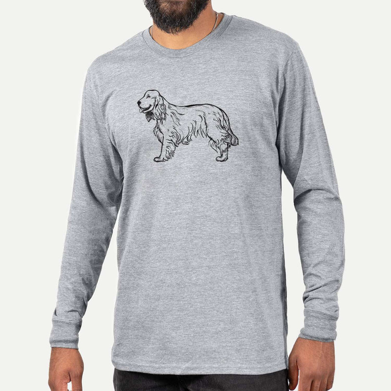 Halftone Cocker Spaniel  - Long Sleeve Crewneck