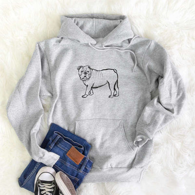 Halftone English Bulldog  - Mens Hooded Sweatshirt