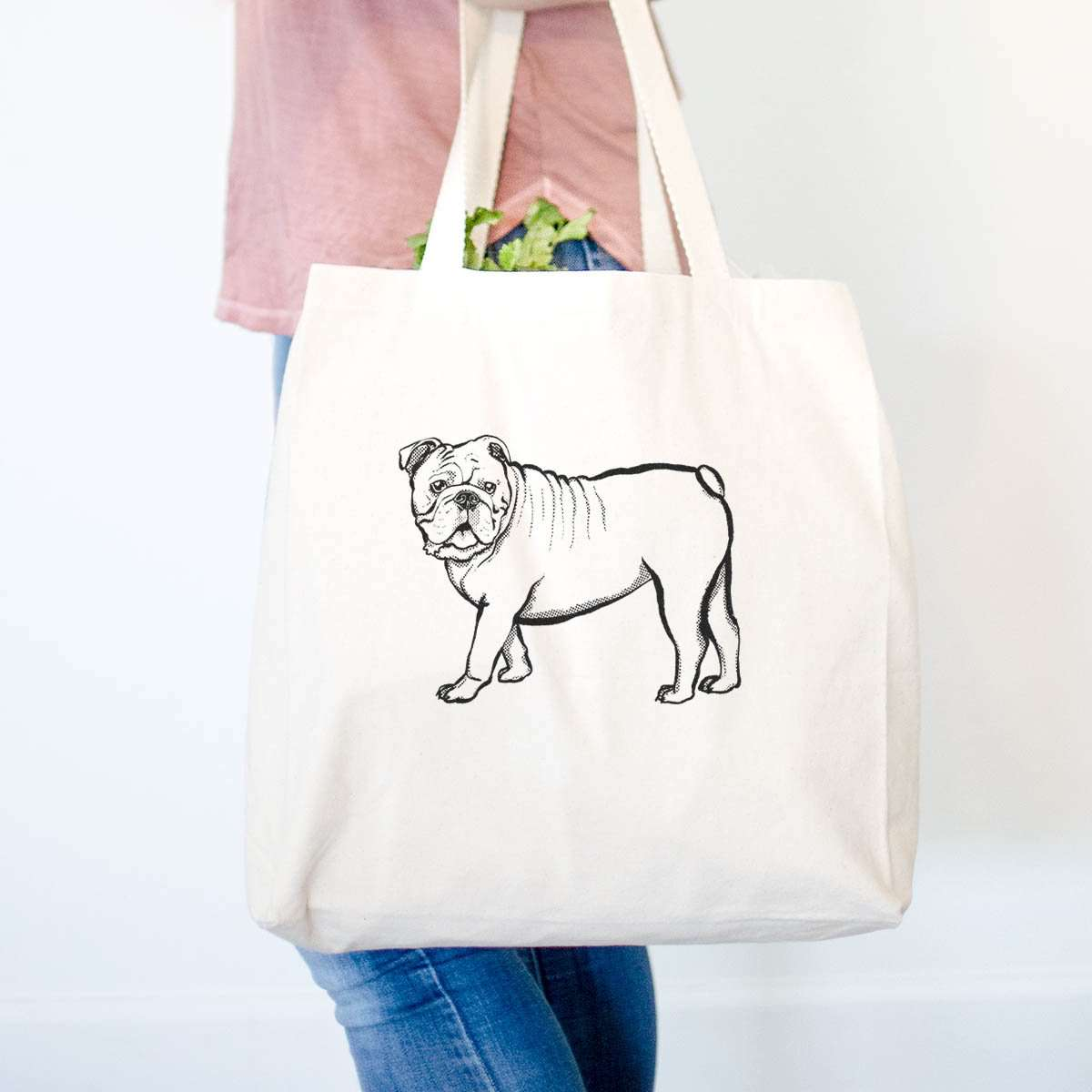 Halftone English Bulldog  - Tote Bag