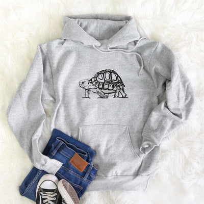 Halftone Fast Tortoise  - Mens Hooded Sweatshirt