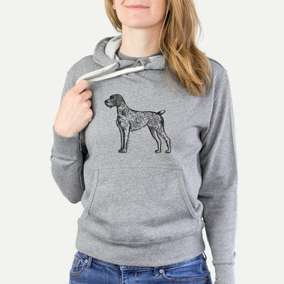 Halftone German Wirehaired Pointer  - French Terry Hooded Sweatshirt