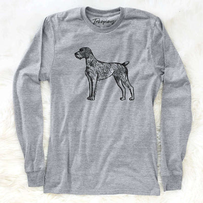 Halftone German Wirehaired Pointer  - Long Sleeve Crewneck
