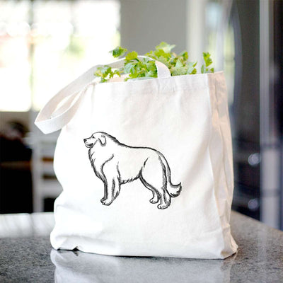 Halftone Great Pyrenees Profile  - Tote Bag