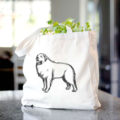 Halftone Great Pyrenees  - Tote Bag