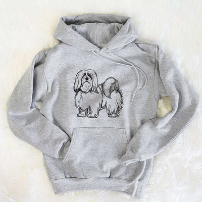 Halftone Lhasa Apso  - Mens Hooded Sweatshirt