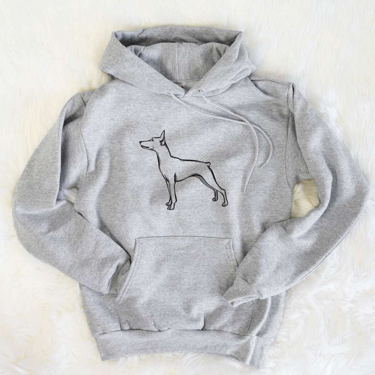 Halftone Mini Pinscher  - Mens Hooded Sweatshirt