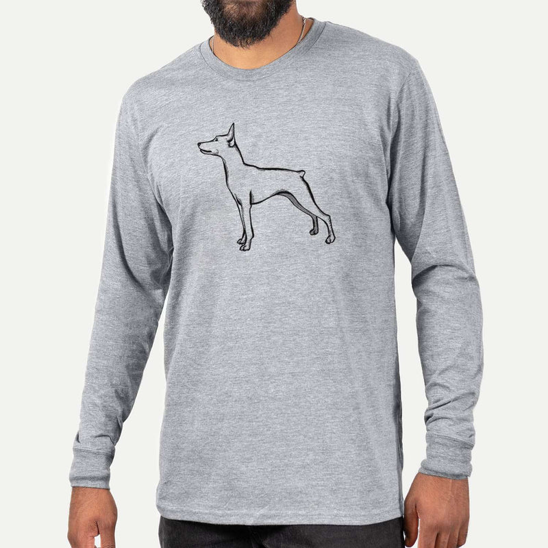 Halftone Mini Pinscher  - Long Sleeve Crewneck