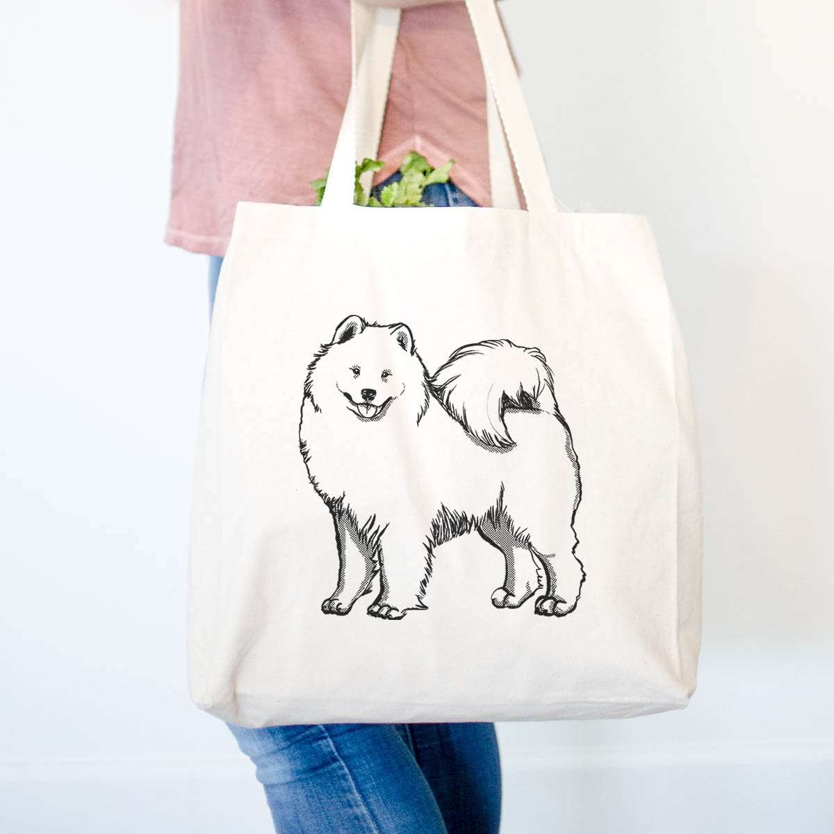 Halftone Samoyed  - Tote Bag