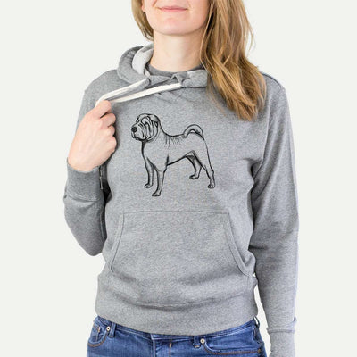 Halftone Shar Pei  - French Terry Hooded Sweatshirt