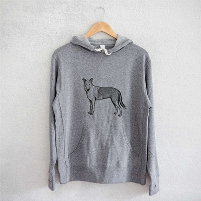 Halftone Smooth Collie  - French Terry Hooded Sweatshirt