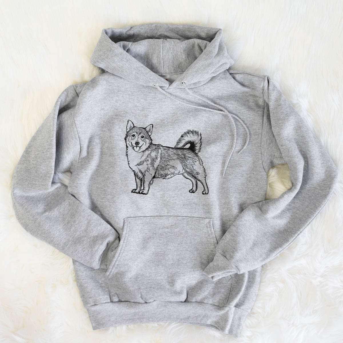 Halftone Swedish Valhund  - Mens Hooded Sweatshirt