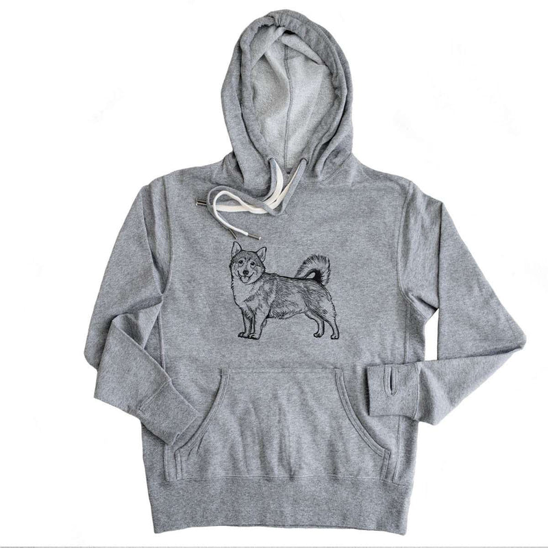 Halftone Swedish Valhund  - French Terry Hooded Sweatshirt