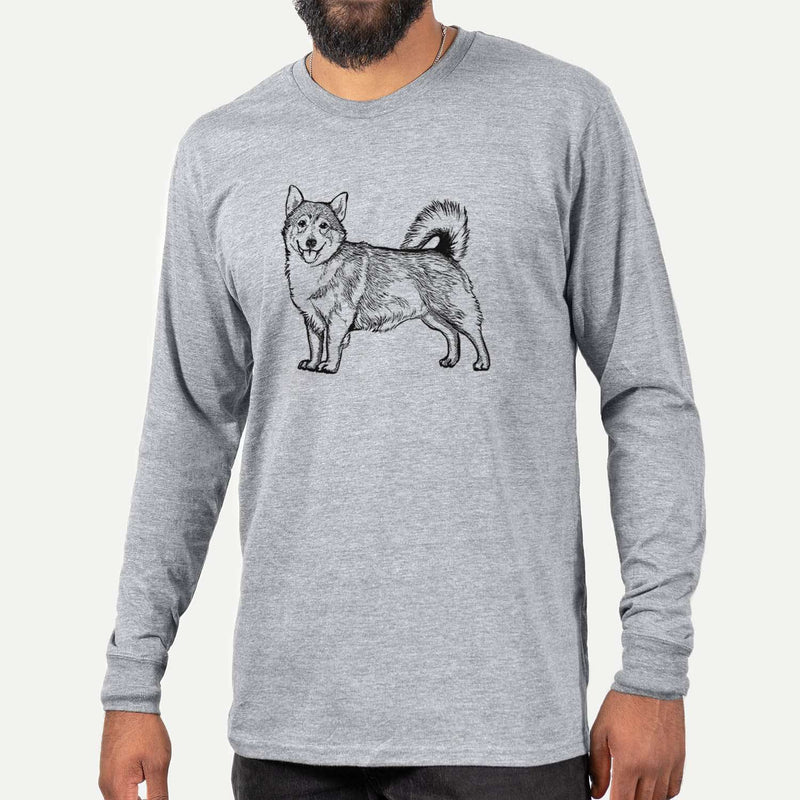 Halftone Swedish Valhund  - Long Sleeve Crewneck