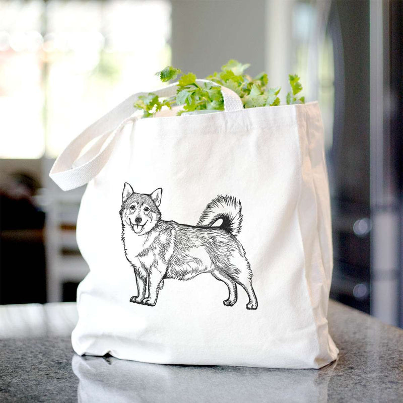 Halftone Swedish Valhund  - Tote Bag