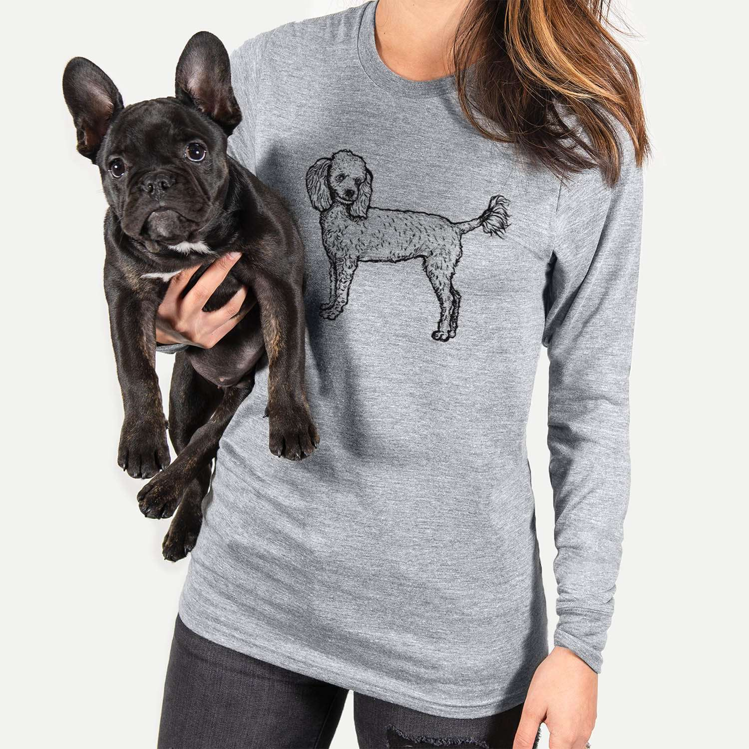 Halftone Toy Poodle  - Long Sleeve Crewneck