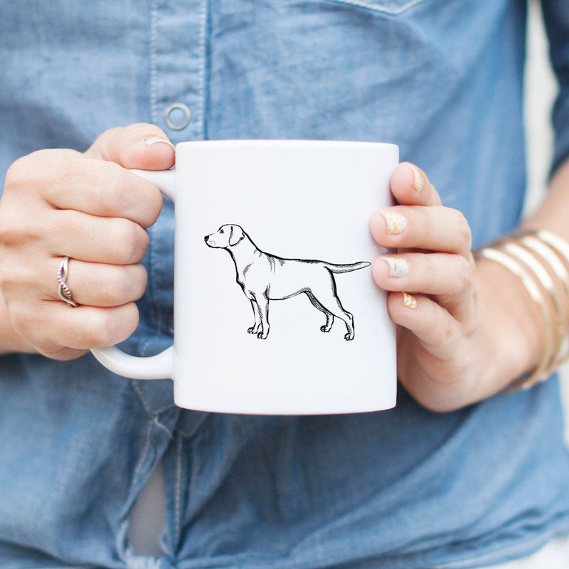 Halftone Yellow Labrador Retriever  - Mug
