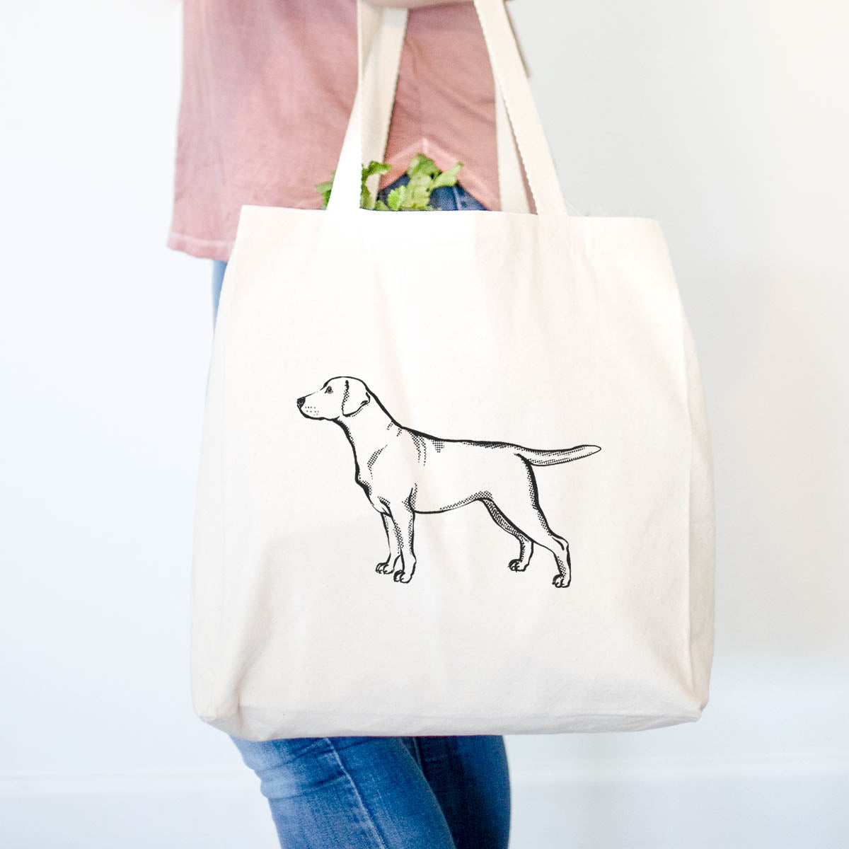 Halftone Yellow Labrador Retriever  - Tote Bag