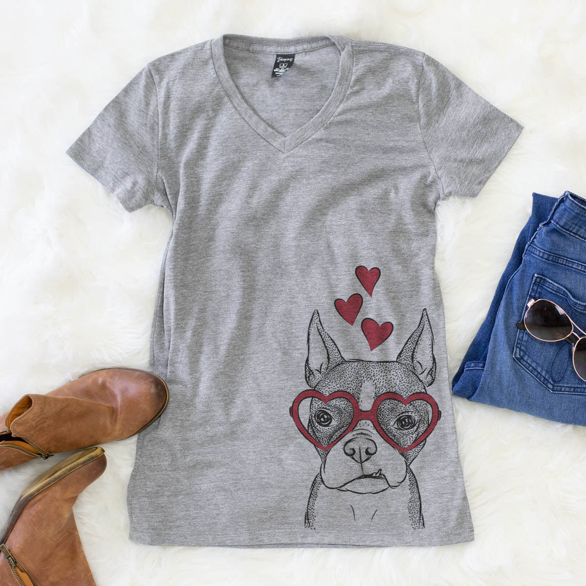 Bean the Boston Terrier  - Valentine Collection