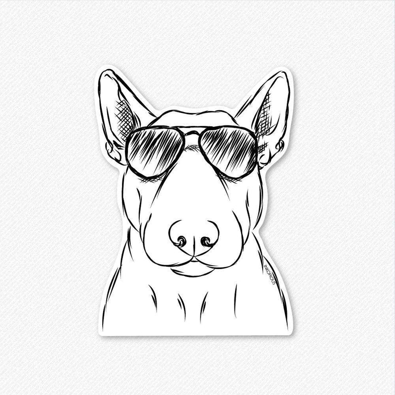 Jett the Bull Terrier - Decal Sticker