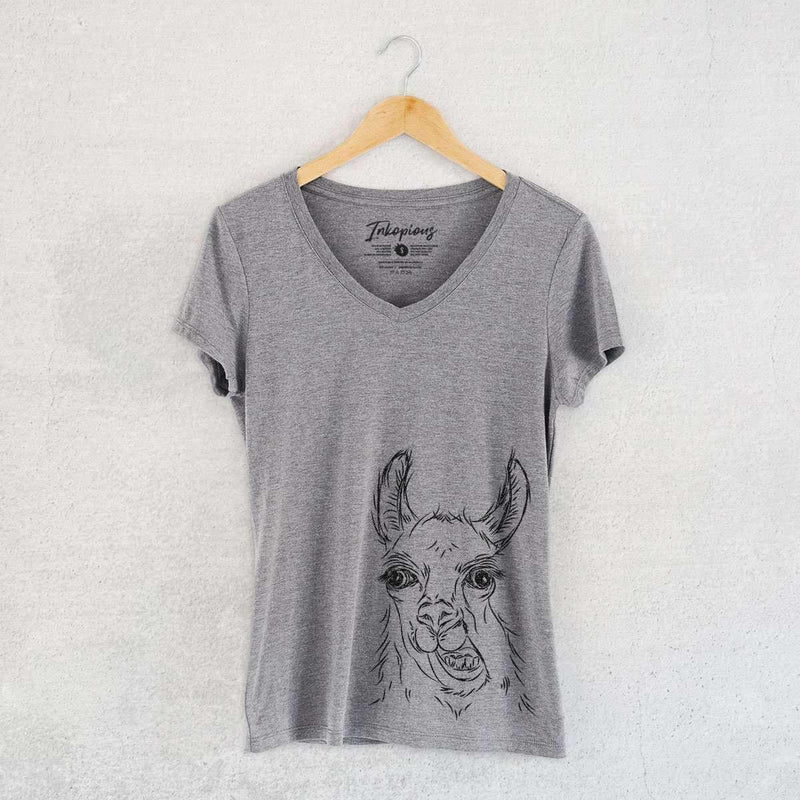 Larry the Llama - Women's Modern Fit V-neck Shirt