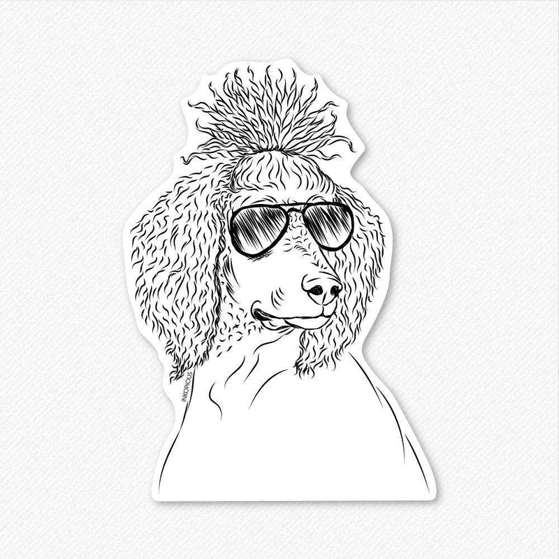 Leo the Poodle - Decal Sticker
