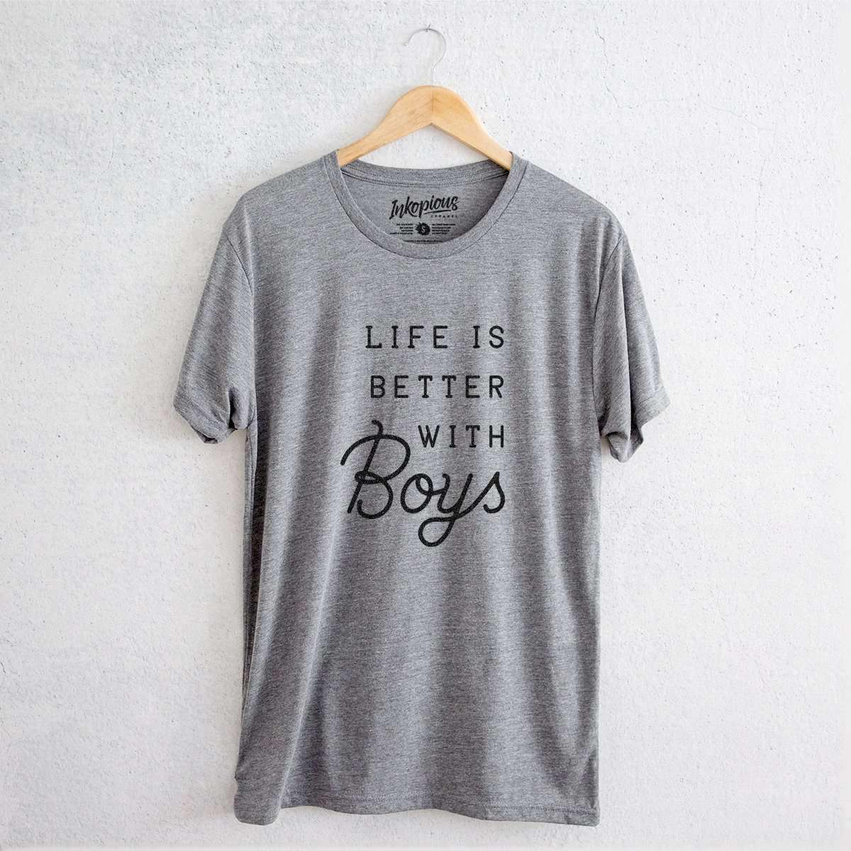 Life is Better with Boys - Tri-Blend Unisex Crew