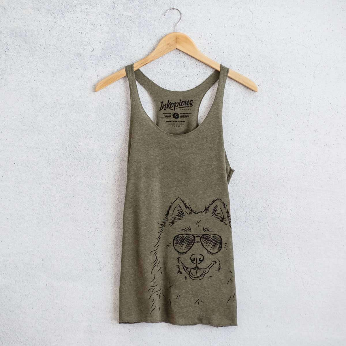 Luka the Samoyed - Tri-Blend Racerback Tank Top
