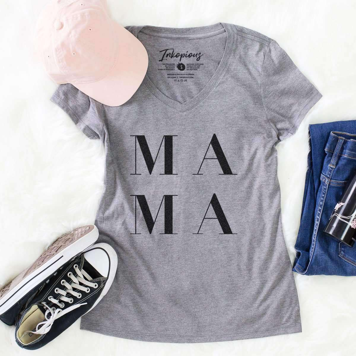 Mama Stacked - Women's Modern Fit V-neck Shirt