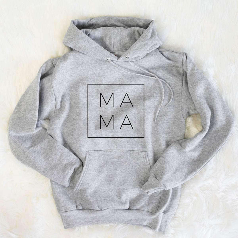 Mama Square - Relaxed Fit Hooded Sweatshirt