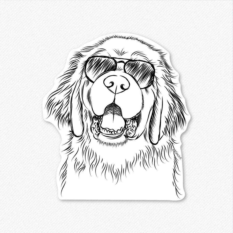 Mozart the Newfoundland - Decal Sticker
