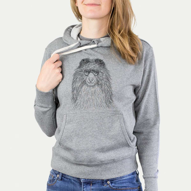 Moxie the Shetland Sheepdog - Grey French Terry Hooded Sweatshirt