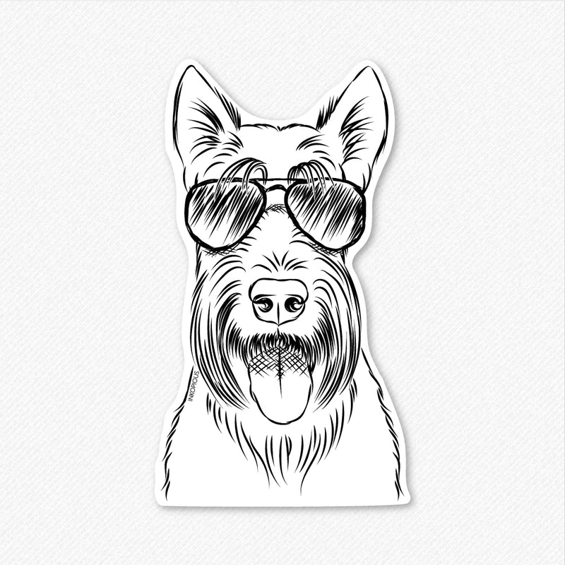 Oswald the Scottish Terrier - Decal Sticker