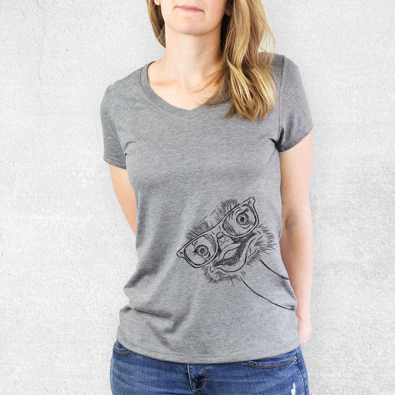 Ozzie the Ostrich - Women's Modern Fit V-neck Shirt