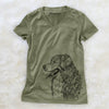 Profile Bernese Mountain Dog  - Women's Modern Fit V-neck Shirt