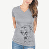 Profile English Bulldog  - Women's Modern Fit V-neck Shirt