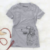 Profile Golden Retriever  - Women's Modern Fit V-neck Shirt