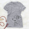 Profile Great Pyrenees  - Women's Modern Fit V-neck Shirt