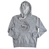 Profile Siberian Husky  - French Terry Hooded Sweatshirt