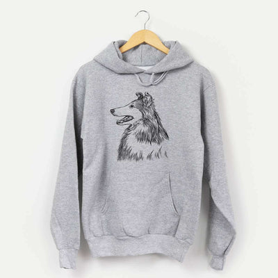 Profile Rough Collie  - Unisex Hooded Sweatshirt