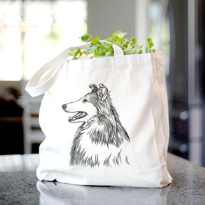 Profile Rough Collie  - Tote Bag