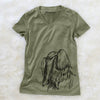 Profile Shih Tzu Long Coat  - Women's Modern Fit V-neck Shirt