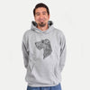 Profile Wire Fox Terrier  - Unisex Hooded Sweatshirt