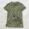 Profile Wolf  - Women's Modern Fit V-neck Shirt