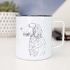 Profile Golden Retriever - 14oz Metal Mug