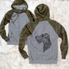 Profile Wire Fox Terrier - Unisex Raglan Zip Up Hoodie