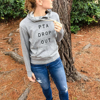 PTA Dropout - Grey French Terry Hooded Sweatshirt