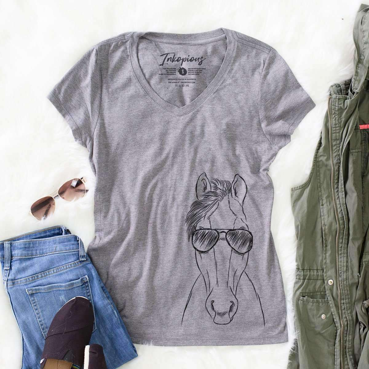 Rio the Horse - Women's Modern Fit V-neck Shirt