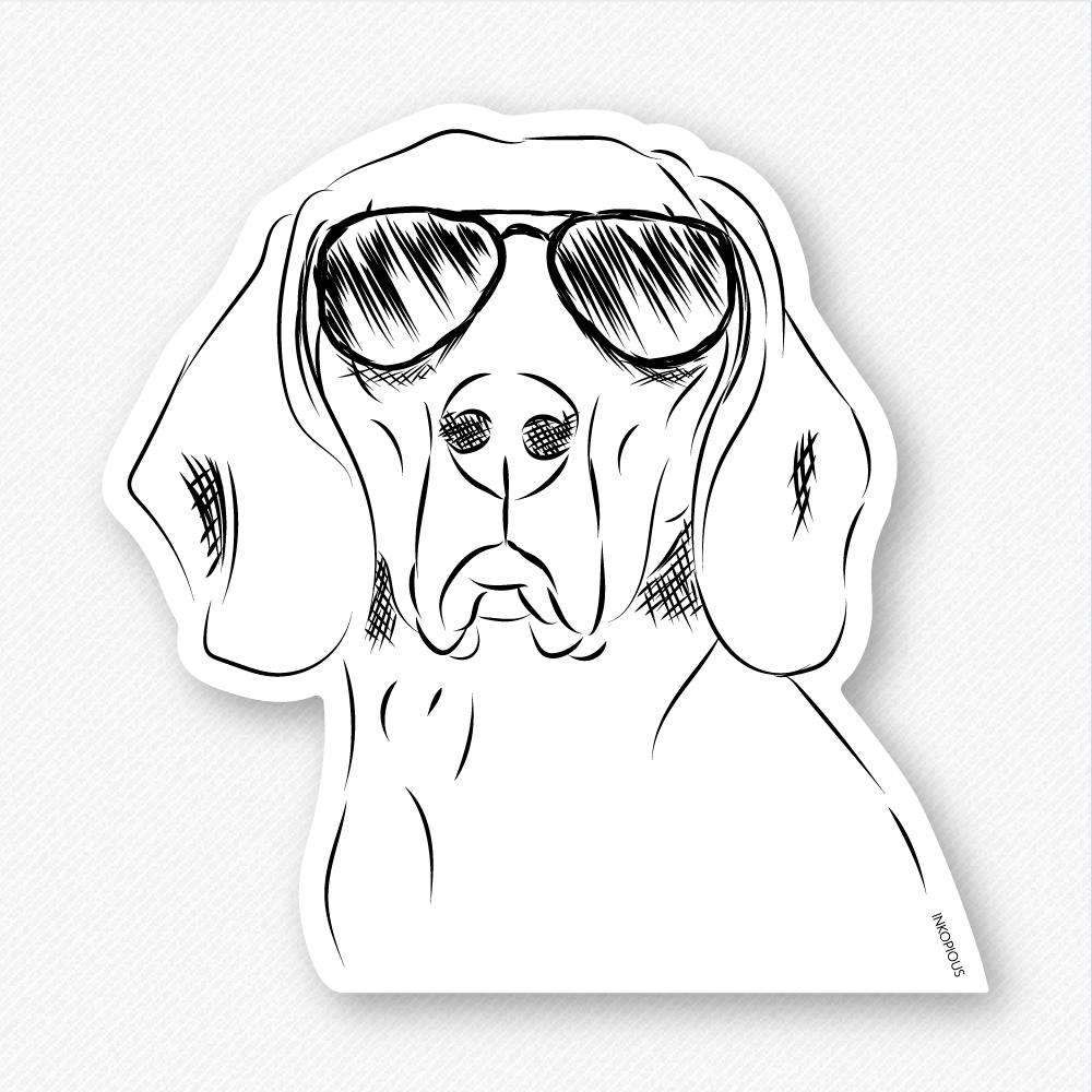 Sagan the Coonhound - Decal Sticker