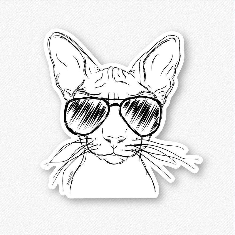 Sammy the Sphynx Cat - Decal Sticker